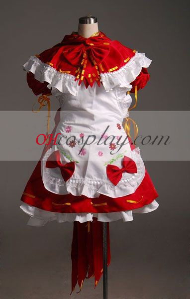 Vocaloid Miku Rode meid Cosplay Costume-Advanced Aangepaste