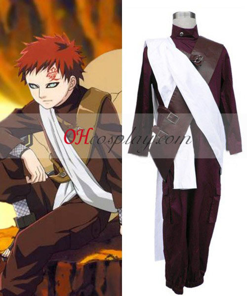 Naruto Gaara 2nd Cosplay Costume Set