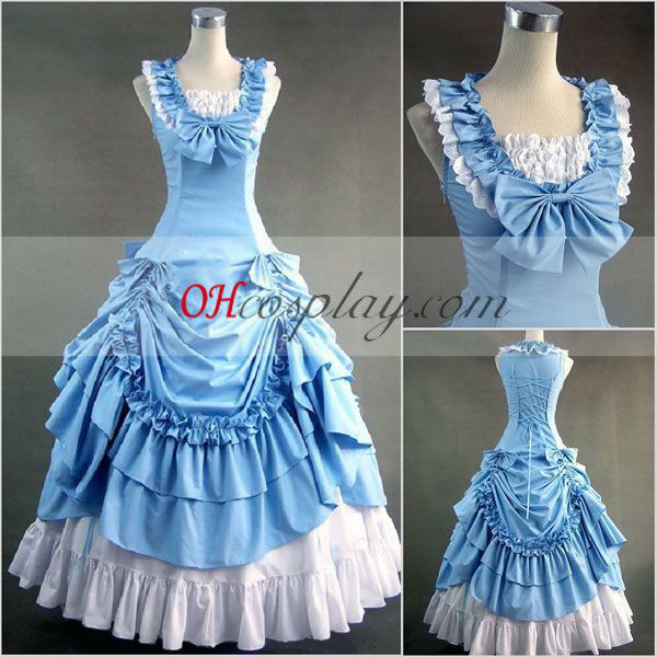 Blue Sleeveless Gothic Lolita Dress Halloween