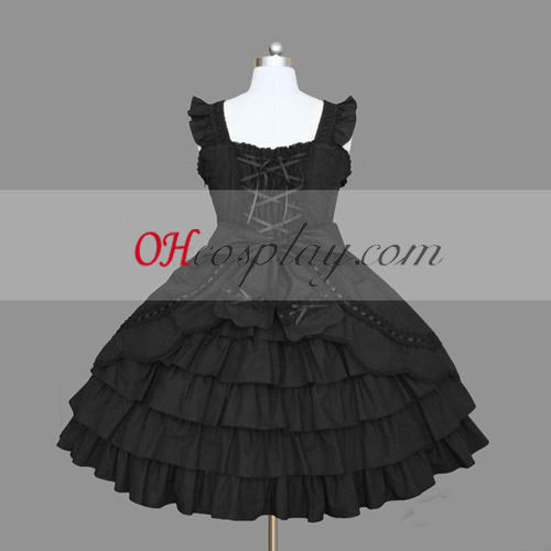 Black Gothic Lolita Dress Halloween Cosplay