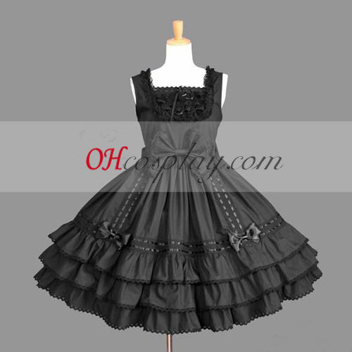 Black Gothic Lolita Dresses Halloween Cosplay