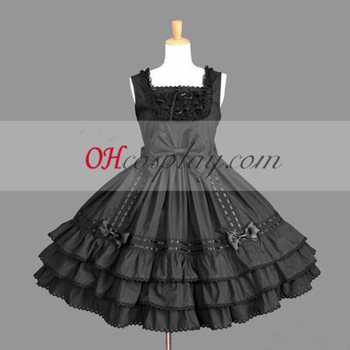 Черен готските Лолита рокля Хелоуин костюми България