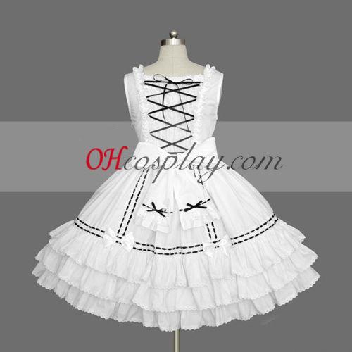 Белый готическая Лолита стиль одежды