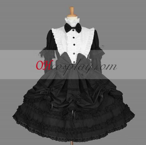 Vestido Gothic Lolita Preto