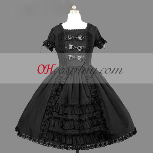 Black Gothic Lolita Dress Cosplay Cute