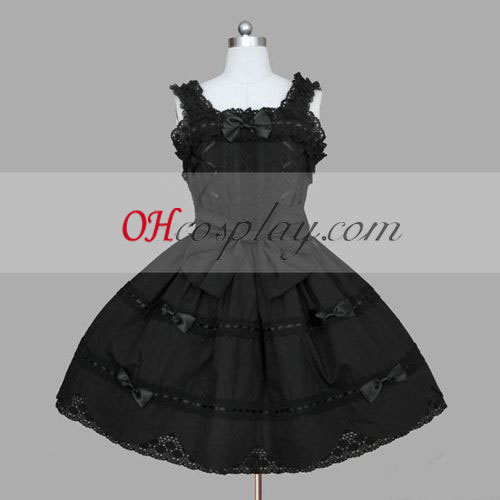 Black Gothic Lolita Dress Halloween Cute