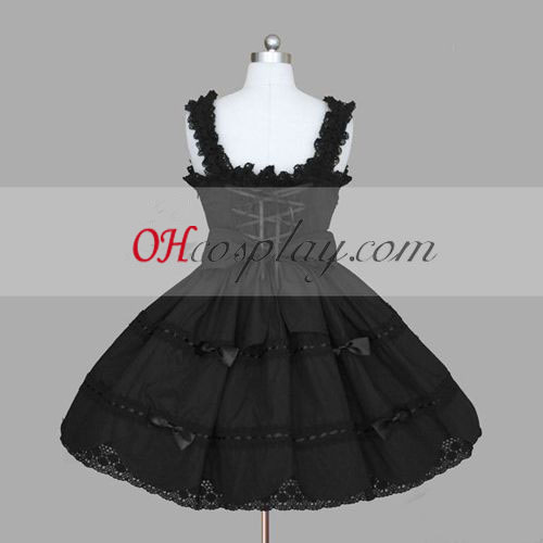 Čierna gotický Lolita šaty