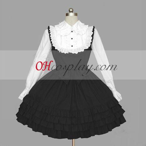 Black-White Gothic Lolita öltözet