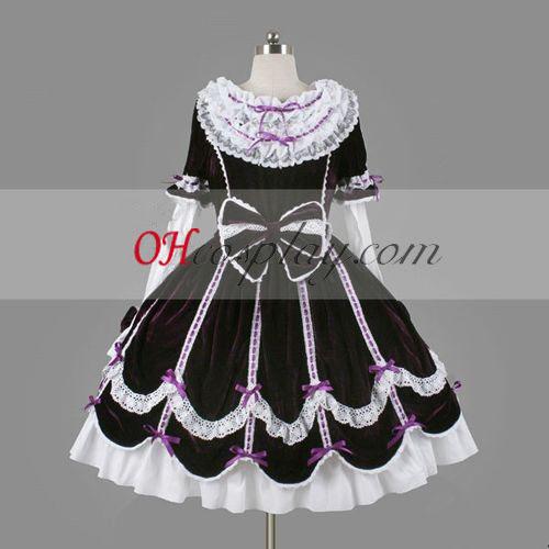 Purple Gothic Lolita Dress Halloween Cosplay