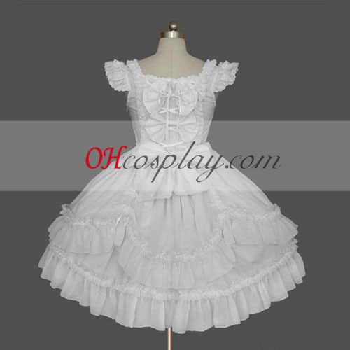 White Gothic Lolita Dress Cheap Gown