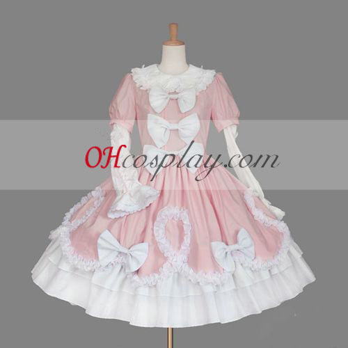 Pink Gothic Lolita Dress Japanese Gowns
