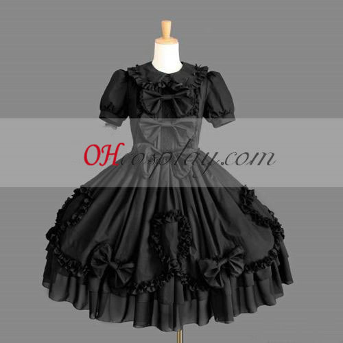 Black Gothic Lolita Dress Sale Halloween Cosplay