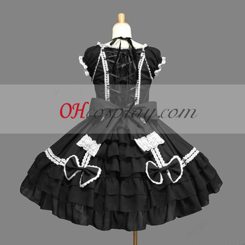 Black Gothic Lolita Dress Japanese Gowns