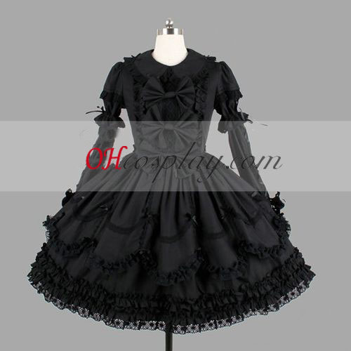 Black Gothic Lolita Dress High Quality