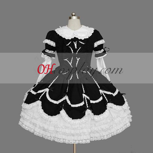 Black-White Gothic Lolita Dress Gowns Online