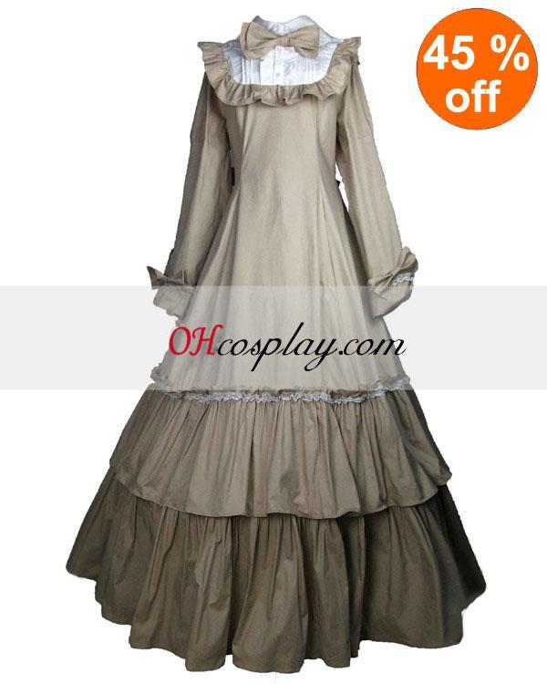 Designinterieurs Off-white Long Sleeve Classic Lolita Kleid