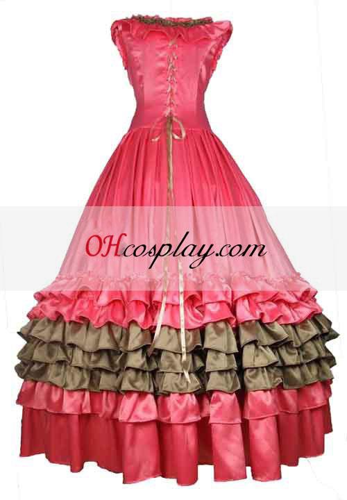 Pink Satin ærmer Gothic Lolita Kjole