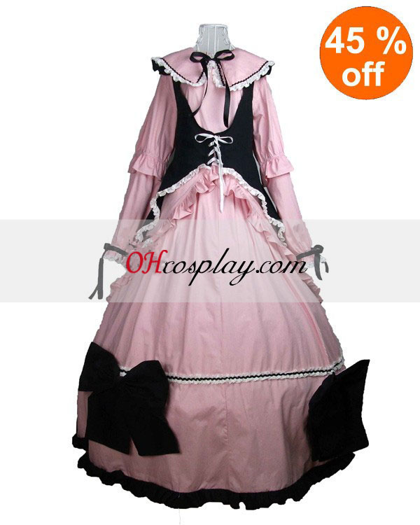 Cutton Long Sleeve referred to as middle Cape Gothic Lolita Dress