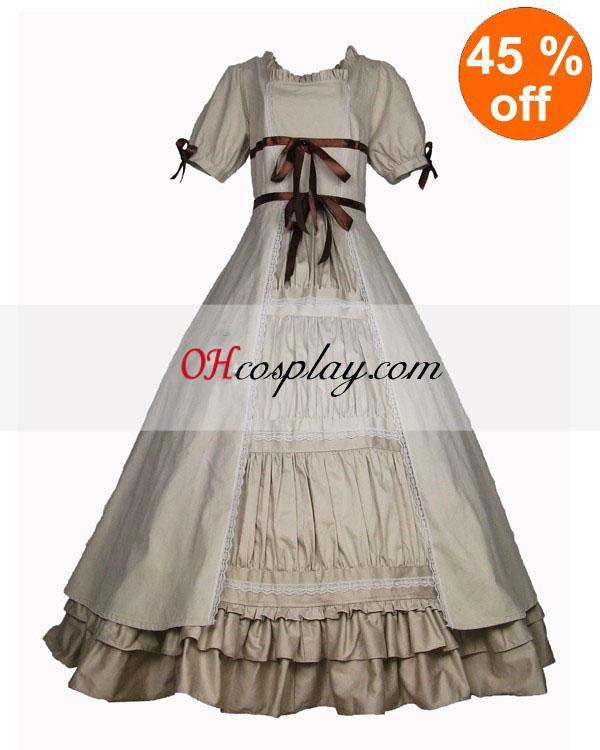 Cutton Off-white Short Sleeve Gothic Lolita Dress