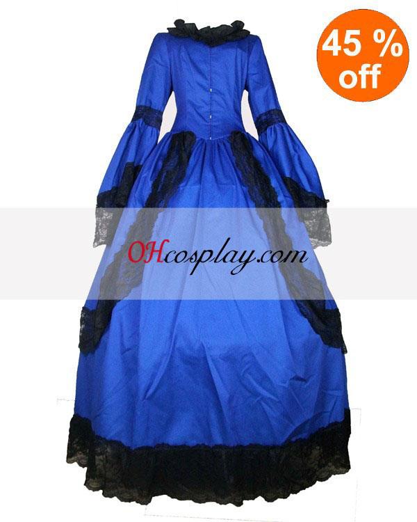 Cutton kék hosszú csipke Gothic Lolita öltözet