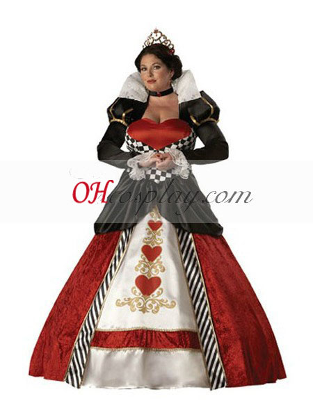 Alice invariably Wonderland Queen of Hearts Cosplay Costume