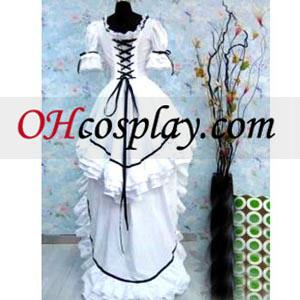 Classic White Lolita Cosplay Costume