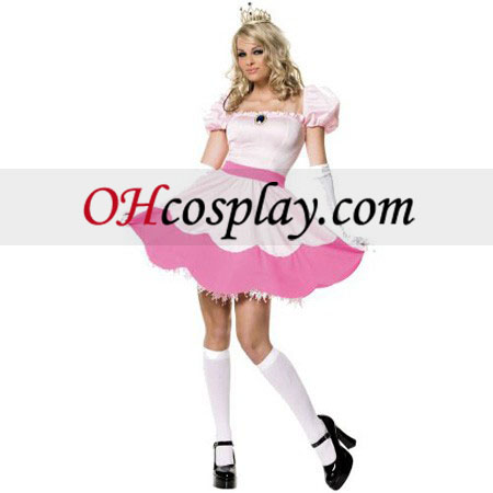 Super Mario Bros Princess Peach Adult Sexy Costume