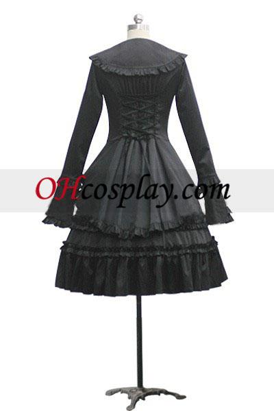 Gotski Lolita stopenjskega Frill obleko