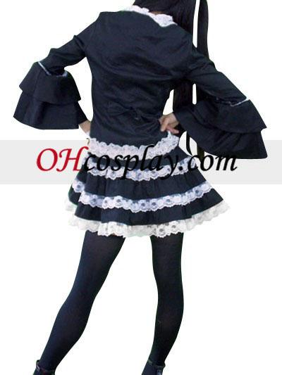 Black Lace Lolita udklædning Kostume