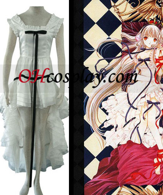 Chi White Dress Cosplay Costume set with Chobits