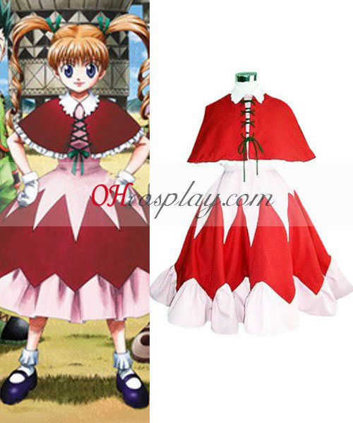 Hunter X Hunter Bisuke Rode jurk Cosplay Costume