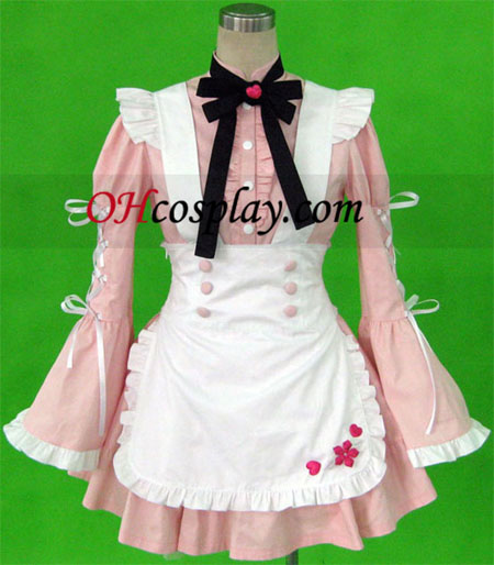 Costume Carnaval Cosplay Neige cerise Costume