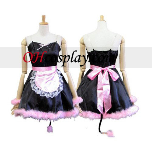 Cosplay Lolita Pussy Cat Maid Cosplay Traje uniforme