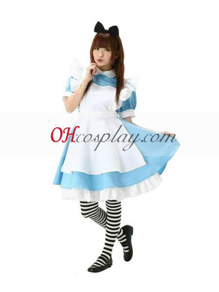 Alice Cosplay Costume around town Alice due to Wonderland
