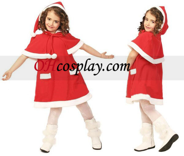 Children Christmas Derss along while in the fact Cape Cosplay Costume