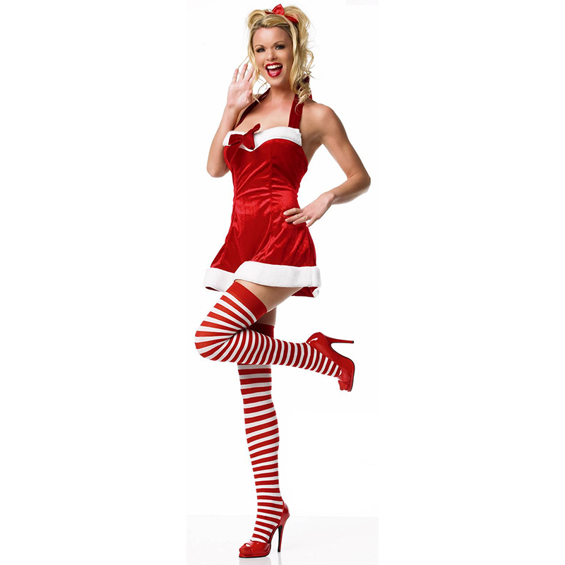 Christams червено Пол рокля Cosplay костюм