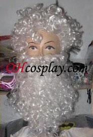 Santa Claus White Beard and Hair