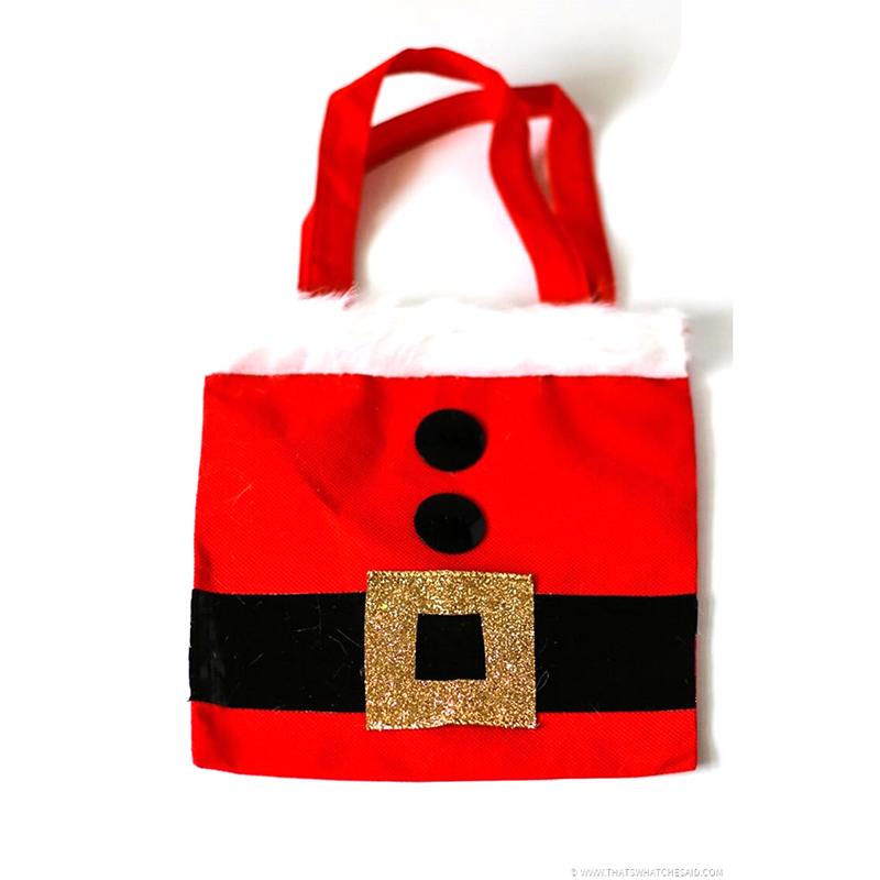 Коледа Санта Клаус средния подарък чанта