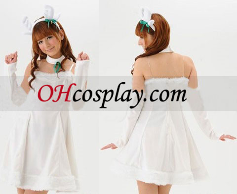 White Rabbit Christma Cosplay Costume