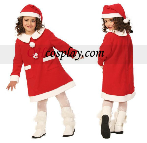 Children Christmas Dress Cosplay Costume