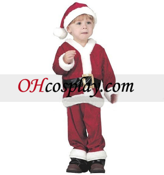 Christmas Santa Claus Costume kids Cosplay Costume