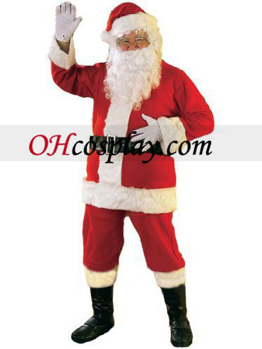 Santa Claus Suit Jul Cosplay Kostym