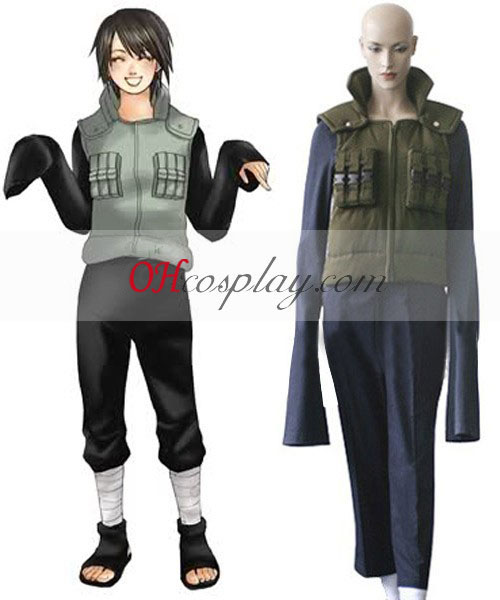Naruto Shippuuden Shizune Jonin Battle Dress Cosplay Costume