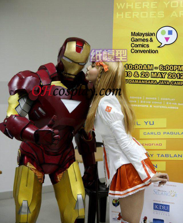 Iron man Papier Cosplay Kostuum