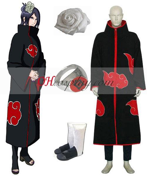 Naruto Akatsuki Konan Cosplay Costume Set