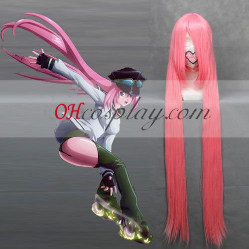 Air Gear Watalidaoli Simca rose longue perruque de Costume Carnaval Cosplay