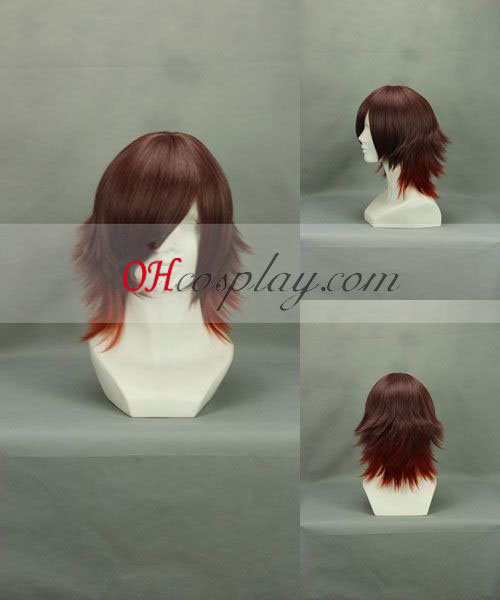 Amnesia Shin Red Brown Cosplay Wig