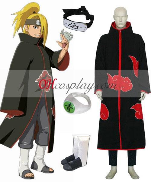 Naruto Akatsuki Deidara Deluxe Cosplay Kostuum Set