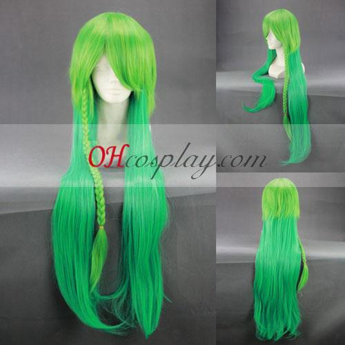 Амнезия UKYO зелени оттенъци Cosplay Wig