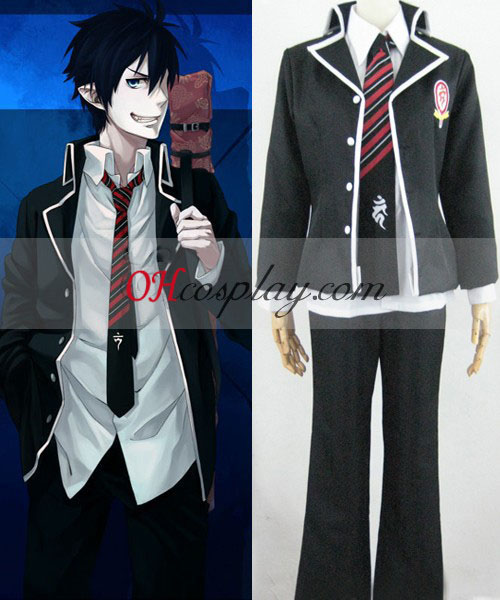 Ao no Exorcist Okumura Rin School Uniform Costumes Costume + Sword Bag